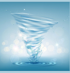 tornado of water rotating twister vector image