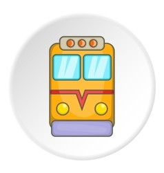 Train locomotive icon cartoon style vector image