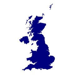 Uk and northern ireland silhouette vector