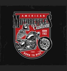 vintage american motorcycle emblem vector image