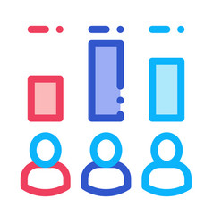 voter rating icon outline vector image