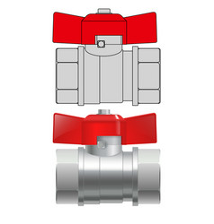 Water pipe red tap vector