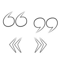 cartoon image of quote mark icon quote symbol vector image vector image