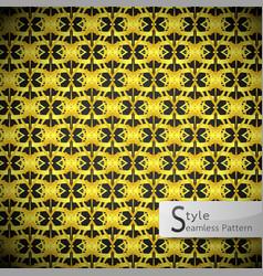 floral mesh loop gold vintage geometric seamless vector image
