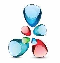 glossy icon vector image vector image
