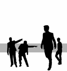 posing people vector image vector image