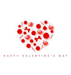 Happy valentines day festive card beautiful vector