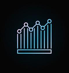 bar graph blue icon vector image vector image