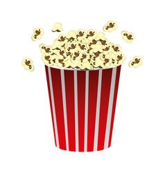 color movie pop corn icon vector image