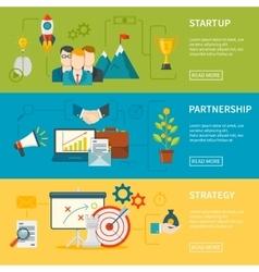Entrepreneurship Horizontal Banners vector image vector image