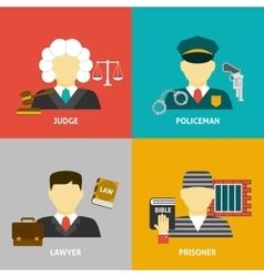 Profession flat avatar icons vector image