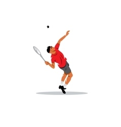 Tennis man sign vector image