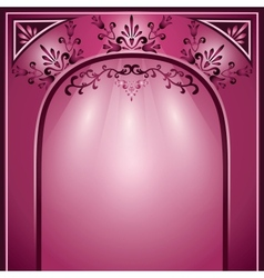 Background with arch and decorative ornament vector image