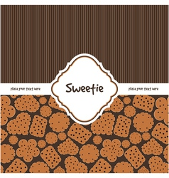 Card with sweet cookies vector