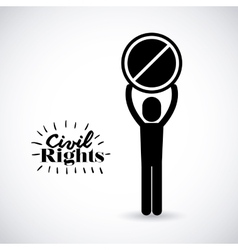 civil rights design vector image