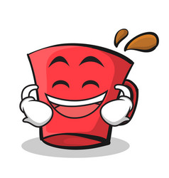 laughing red glass character cartoon vector image