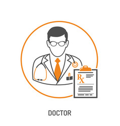 medical prescription concept vector image