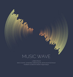 poster of the sound wave vector image vector image