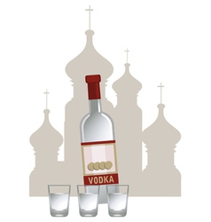 Vodka Background vector image vector image
