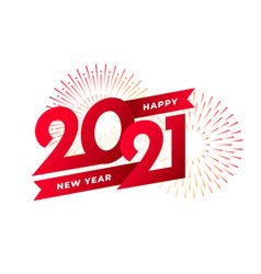 2021 happy new year celebration greeting card vector