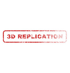 3d replication rubber stamp vector image
