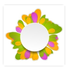 Abstract bright flower design vector image