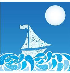 abstract sea vector image
