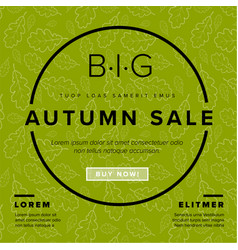 autumn big sale retro flyer vector image