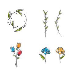 Beauty florist icon vector