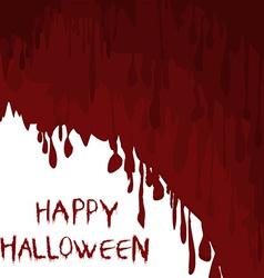 Bloody Halloween vector image