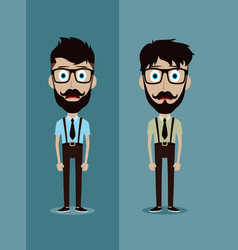 businessman office guy funny cartoon character vector image