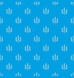 Candelabra candle pattern seamless blue vector