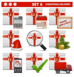 Christmas Delivery Set 6 vector image