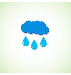 cloud and raindrops eps vector image