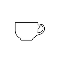 coffee cup line icon black on white background vector image