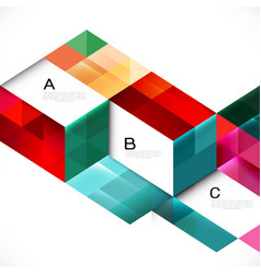 Colorful overlapping geometric template vector