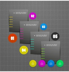 Colorful ribbon infographic steps option banners vector image