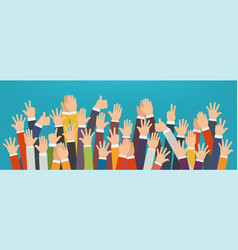 concept raised up hands vector image
