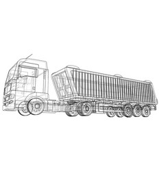 dump truck isolated created of 3d vector image