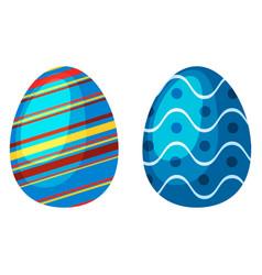 easter eggs spring colorful celebration decoration vector image