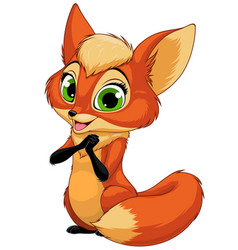 funny little fox child vector image