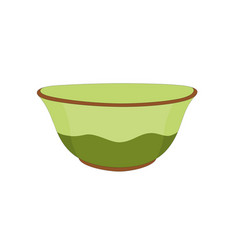 Green ceramic bowl vector