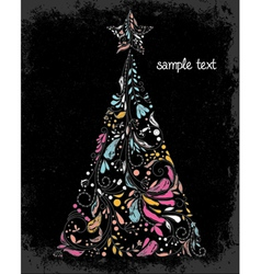 Grunge christmas greeting card vector