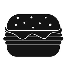Hamburger icon simple style vector