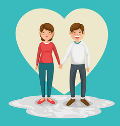 happy couple design vector image