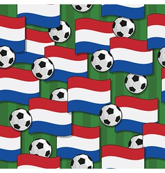 holland football pattern vector image