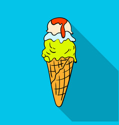 Italian gelato icon in flat style isolated on vector