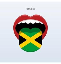 Jamaica language Abstract human tongue vector
