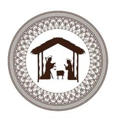 Joseph mary holy family christmas design vector