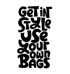Keep bag lettering vector